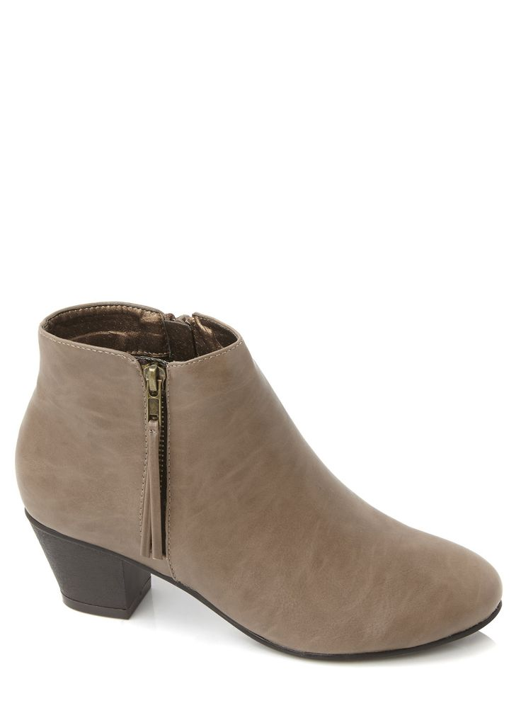 Taupe Outside Zip Western Boot, £25. #SS15BHS #SS15 #Boots #Shoes