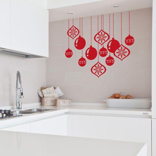 Bolas de navidad que podr s colocar en cristales azulejos - Murales decorativos de navidad ...