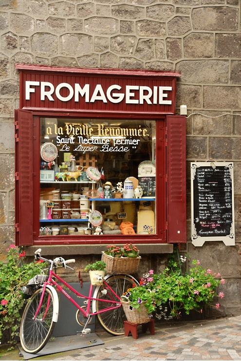 Fromagerie Barbat   Besse-et-Saint-Anastaise, France Not rustic enough, but could be a good outside window look.