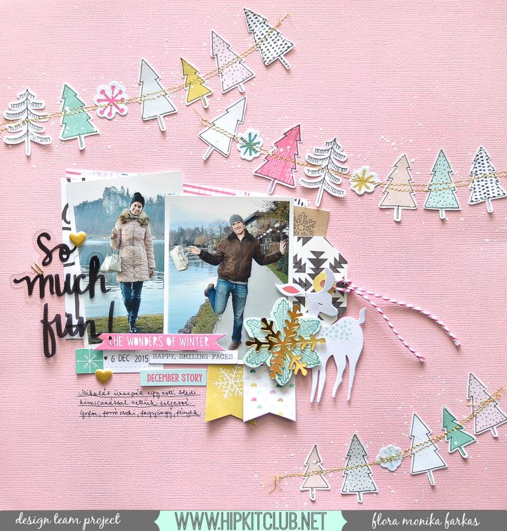 Hi Girls! Today I want to share with you a layout  made with November 2016 Hip Kits . These kits are so magical, I really love the pink and...