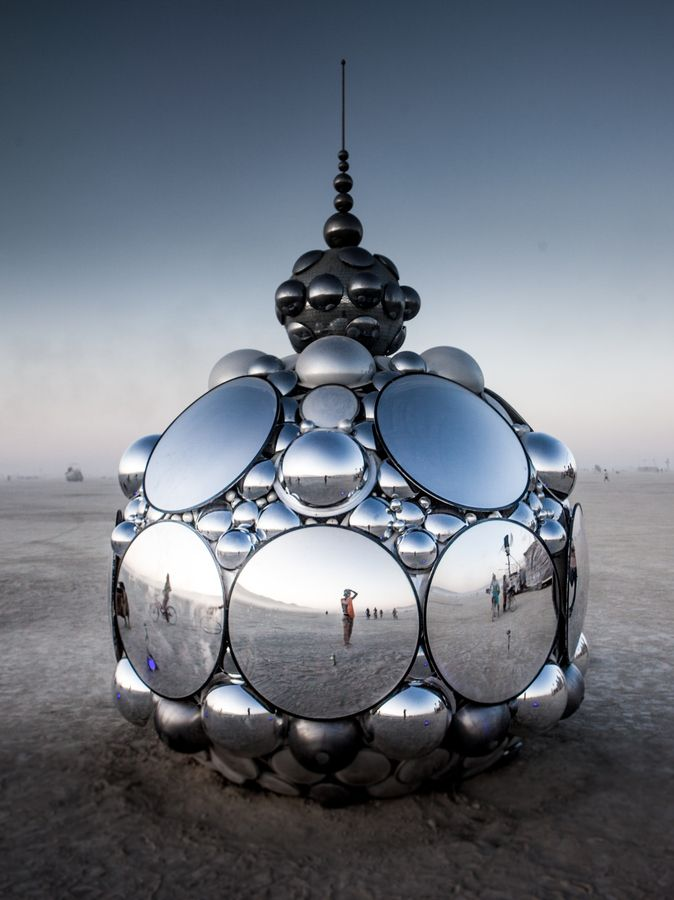 'Compound I' by American artist and sculptor Kirsten Berg for Burning Man (2012) photographed by Ian Brewer. via the photographer on 500px