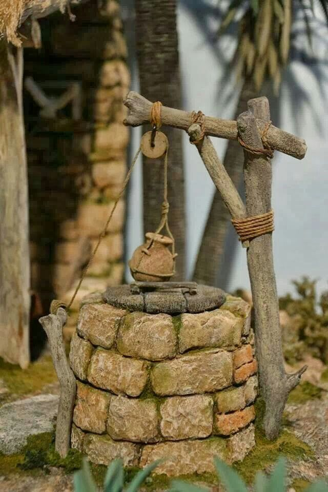 Nativity scene - water well