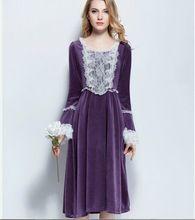 Женщины высокое качество длинная часть зимы ночной рубашке князя дворец pijamas королевской старинных пижамы pyjama camisola 508031(China (Mainland))