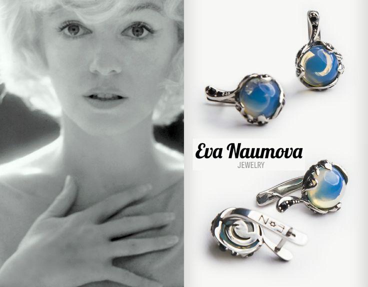Moonstone earrings серебро, лунный камень, черная шпинель http://evanaumova.ru/moonstone-earrings