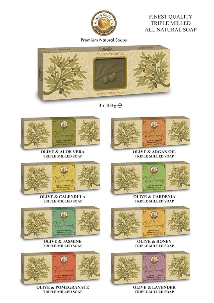 Gift Box 3x100gr Olive Soap ______Code: 520798-805