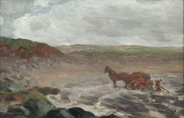 Gathering Seaweed, Mayo Coast by Jack Butler Yeats RHA (1871-1957). 1909. Oil on board.