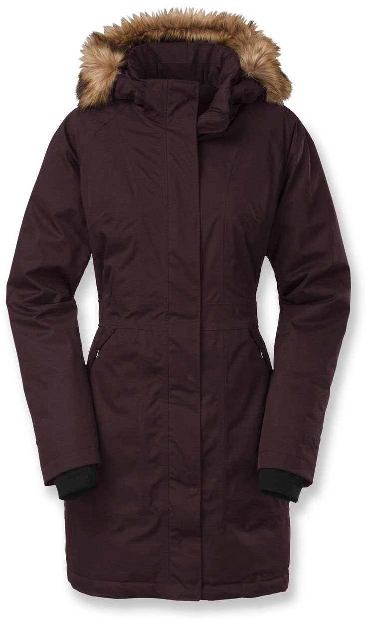 The North Face Arctic Down Parka - Women's. I cannot say enough praise for this coat. If The North Face was not so good at making gear that keeps me warm and comfortable in the cold, I would not go outside as much / be as active in the winter. So they are a brand that supports my active lifestyle.