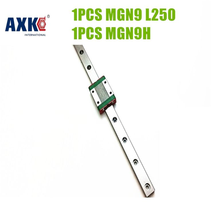 AXK Miniature <b>Linear Guide</b> MGN9 250mm <b>9mm Linear Rail Slide</b> ...