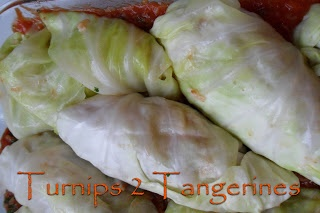 Turnips 2 Tangerines: Stuffed Cabbage Rolls