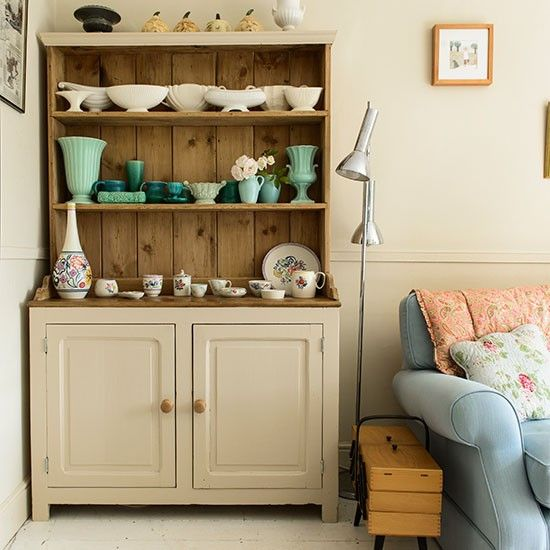 Living room dresser with china collection | Living room storage ideas | Decorating | housetohome.co.uk