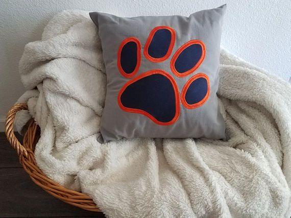 Throw Pillow Paw Pillow Auburn LSU Clemson Texas A&M