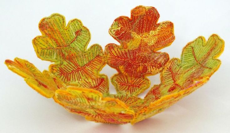 Leaf Fabric Bowl | Sew Fun Bowls & Boxes | Pinterest