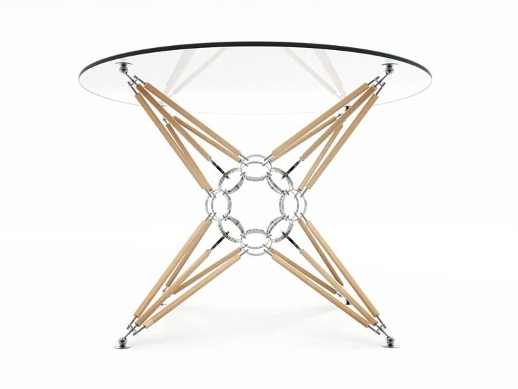 """Table """"8 pyramids"""" with a wooden support. Natural and warm., Moscow, 2016 - irraciodesign"""