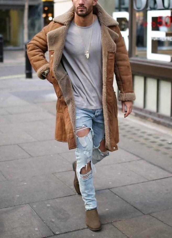 48 Winter Outfit Street Style for Men Trend 2019