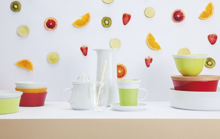 Freche Früchtchen Sommer-Kollektion, buntes Geschirr, KAHLA Porzellan