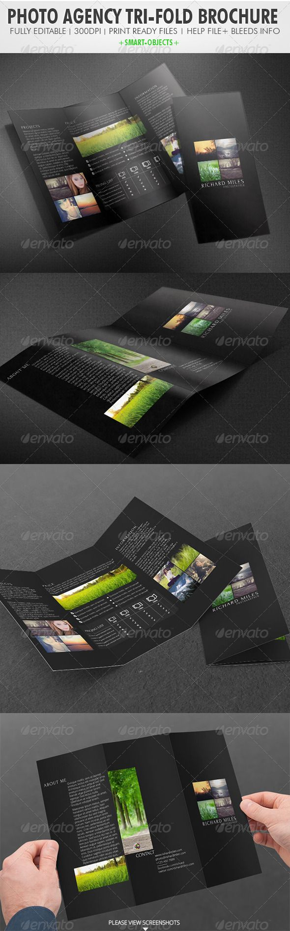Photo Agency Tri-fold Brochure  http://graphicriver.net/item/photo-agency-trifold-brochure/3966701?WT.ac=portfolio_1=portfolio_author=Realstar