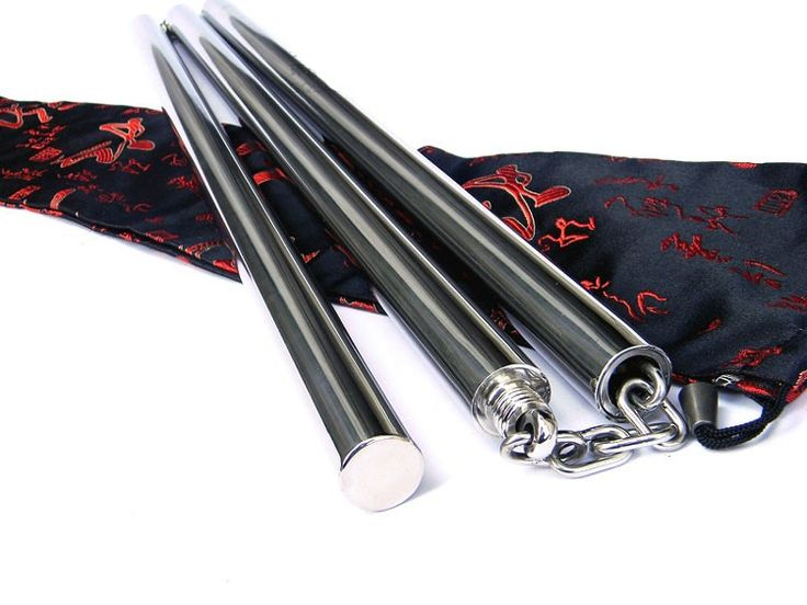 Stainless Steel Handmade Three Sectional Staff Easy Travel via Asia-Sale Best Tai Chi, Kung Fu Clothing