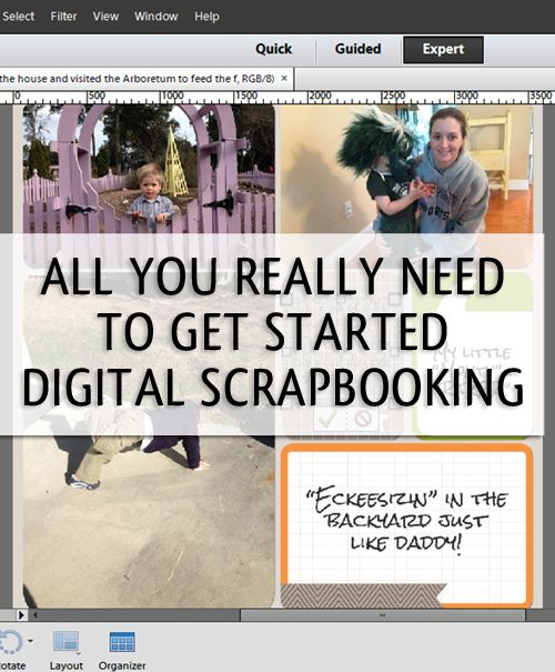 Getting Organized to Start Digital Scrapbooking