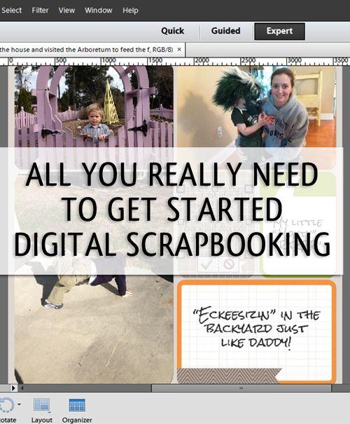 Getting Organized to Start Digital Scrapbooking