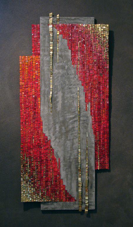"Saatchi Online Artist: Dino Maccini; Glass, Mosaic """"Teoria degli insiemi"""""