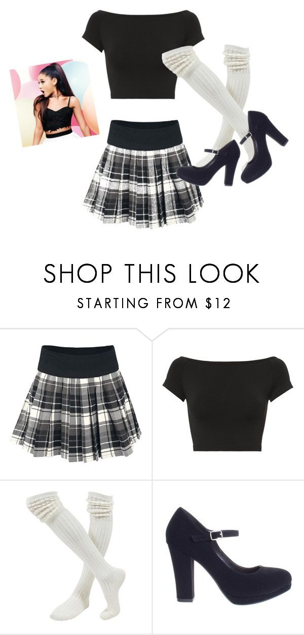 """Schoolgirl Chic- Ariana Grande"" by hannahkaymusic ❤ liked on Polyvore featuring Helmut Lang and Classified"