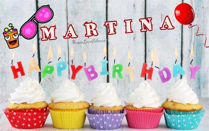 Happy Birthday Martina Buon Compleanno Compleanno Martini