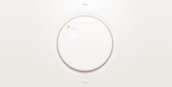 clean control knob (though, it seems to me, the Min and Max are not placed in correct relation to one another) / Paco