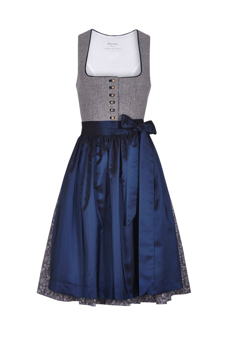 The neckline cut and that grey fabric is nice the satin apron I really like how simple and elegant this is
