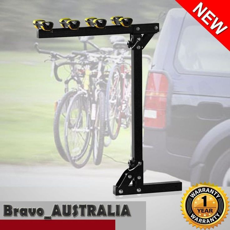 """4 Bike Bicycle Hitch Mount Rear Carrier Rack for Car for 2"""" Receivers"""