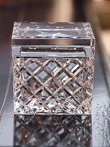 Reed & Barton Regal Covered Box ~ I want a cut crystal box for my bedside table to match the perfume bottle collection & to put junk in. Because junk goes in crystal.