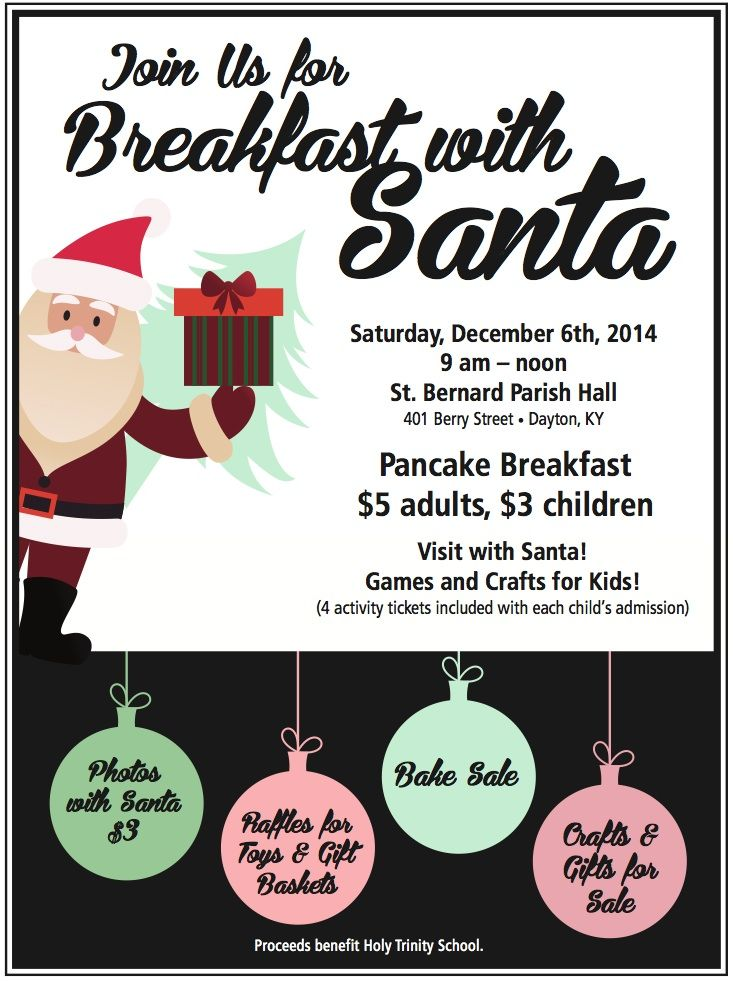 free breakfast with santa flyer templates pike productoseb co