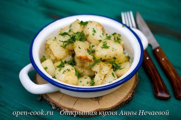 Картофель по-итальянски с пармезаном и чесноком