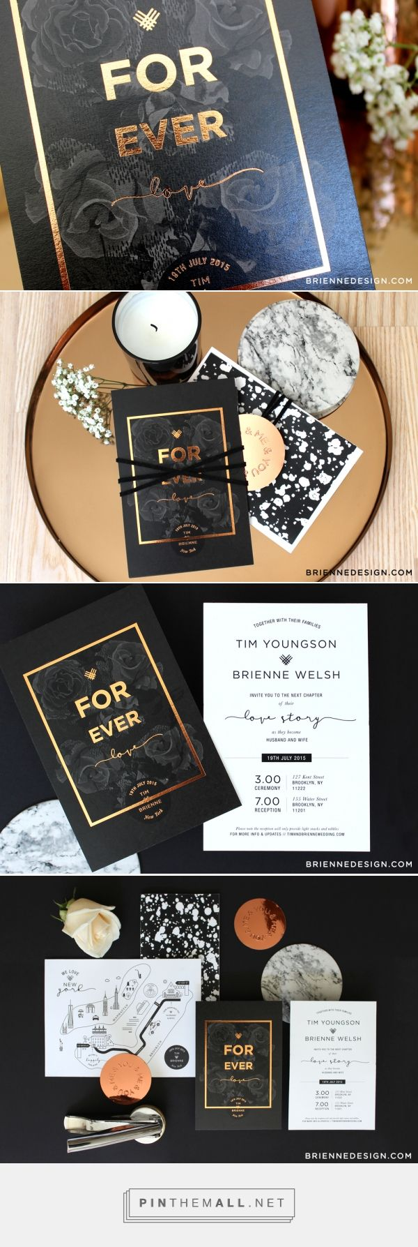 Wedding Invitation Design by Brienne Design | Fivestar Branding Agency – Design and Branding Agency & Curated Inspiration Gallery