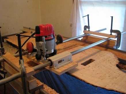 Router Sled to flatten large slabs.