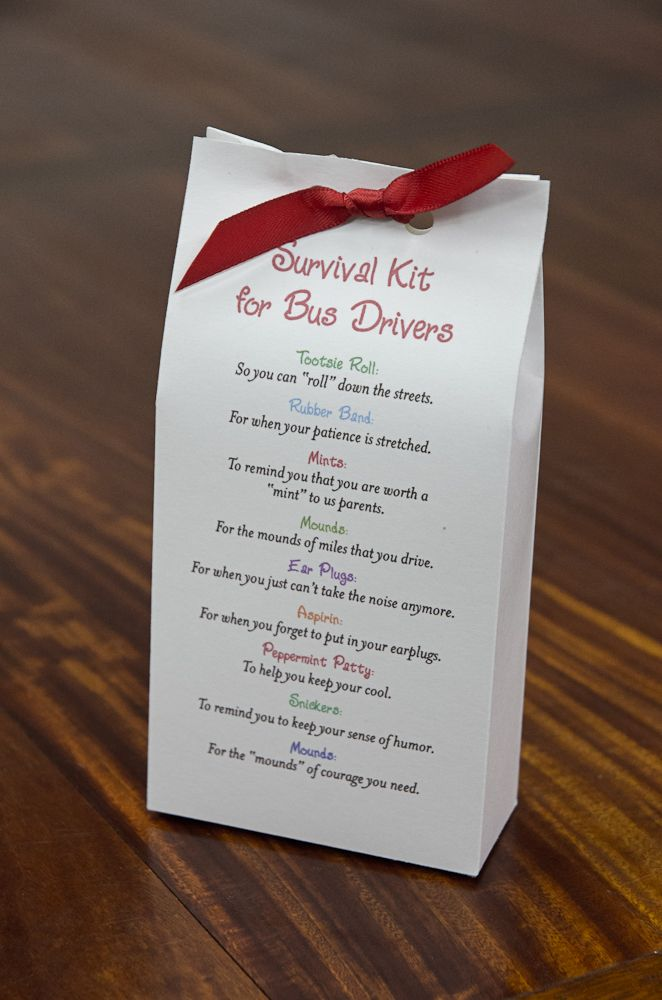 Survival Kit for Bus Drivers