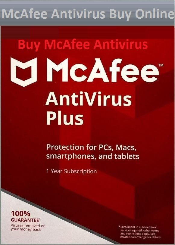 Buy McAfee Internet Security, to secure your device with latest and