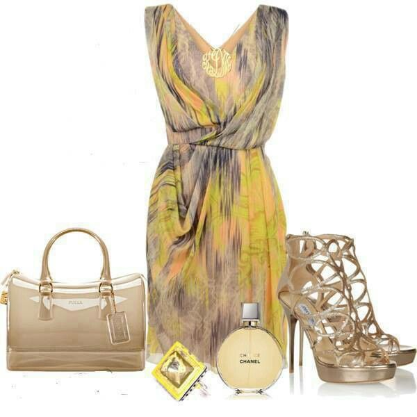 Chic neutrals w/ a pop of color: summery yellow!