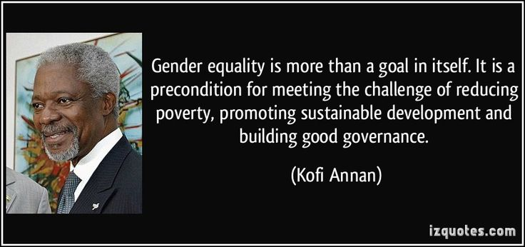 Gender Equality Quotes Tumblr Gender equality is more than a