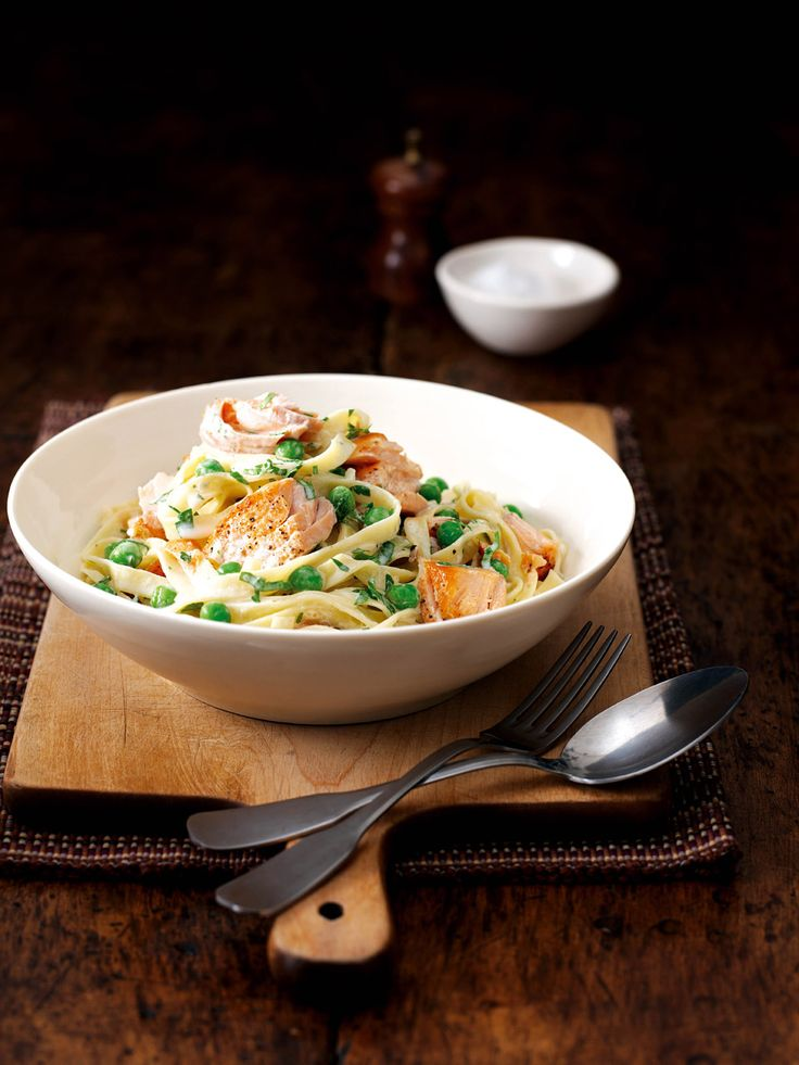 Try this fresh, healthy salmon pasta dish for a simple supper.