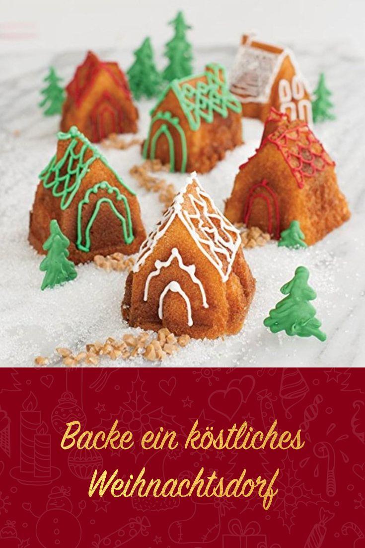 Backe Ein Köstliches Weihnachtsdorf! #kuchen #backform #nordicware #cake # Backen #