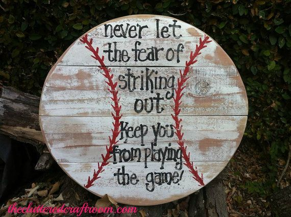 handcrafted baseball pallet sign by clutteredcraftroom on Etsy, $30.00