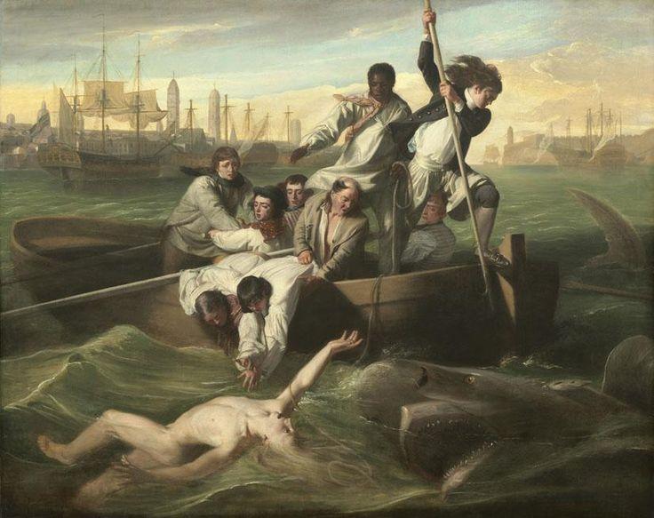 1749 - Brook Watson sufre un ataque de tiburón y luego es electo Lord Mayor   El joven Brook Watson's de 14 años, sufrió un ataque de tiburón mientras nadaba tranquilamente en el puerto de La Habana. Un gran tiburón tigre se comió parte de su pierna derecha por debajo de su tobillo