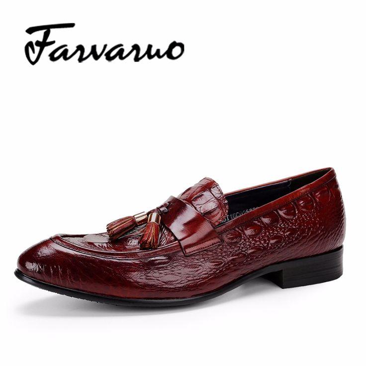 Farvarwo Italian Crocodile <b>Mens</b> Formal Shoes for <b>Male</b> Black ...