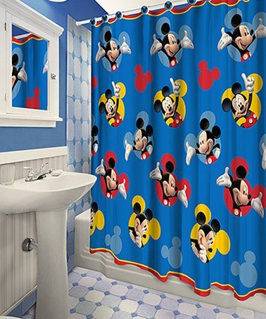 This Colorful Character Curtain Brings The Magic Of Disney To Brighten Your Bathroom  Décor.