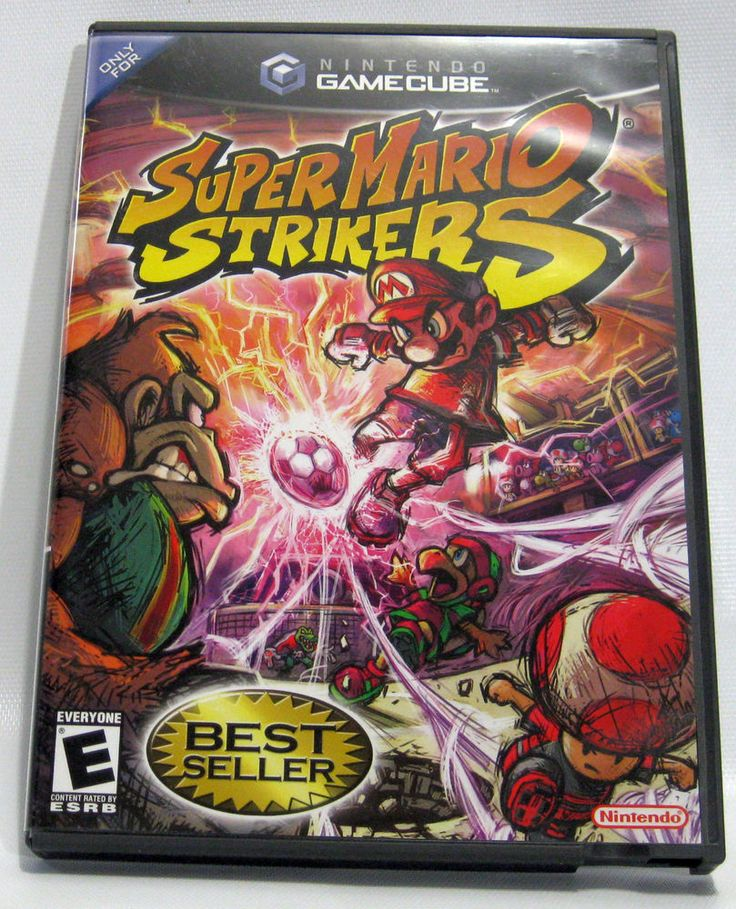Excellent - Super Mario Strikers (Complete) Nintendo GameCube Soccer Video Game