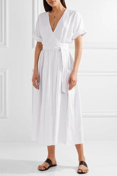 Мара Хоффман | Платье двенадцатичасовой портфолио органического льна | NET-A-PORTER.COM