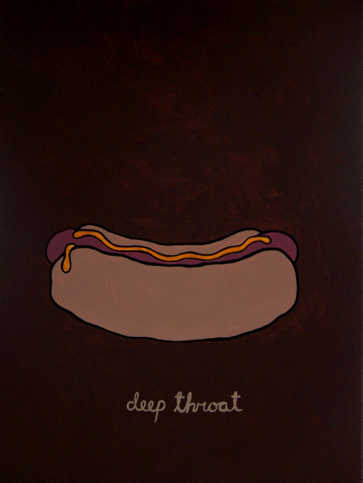 """""""Deep Throat Movie Poster"""" Acrylic Painting by Rolo Cooney of the Cooney Brothers. From www.leighcooney.com"""