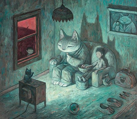 "Ilustración shaun Tan - ""Never give your keys to a stranger"", from Rules of Summer"