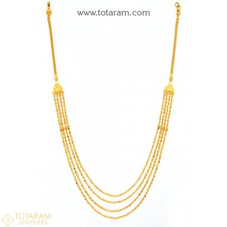 22K Gold Necklace for Women - 235-GN2023 - Buy this Latest Indian Gold Jewelry Design in 25.250 Grams for a low price of  $1,342.99