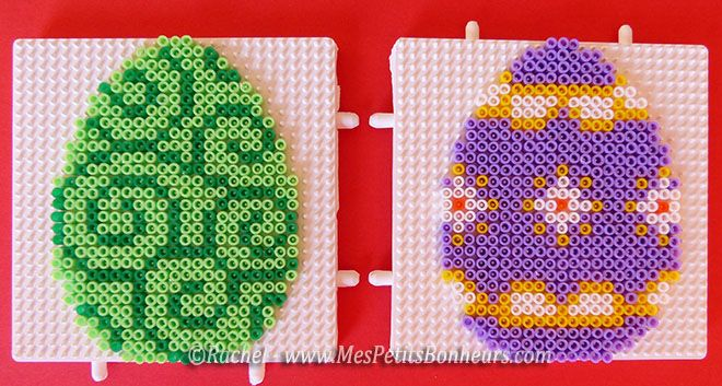 easter eggs hama mini beads by rachel mes petits bonheurs hama beads pinterest. Black Bedroom Furniture Sets. Home Design Ideas